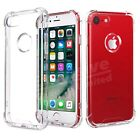 For Apple iPhone 8 7 6s Clear Gel Case Cover and Tempered Glass Screen Protector