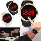 Waterproof Men's LED Watch Touch Screen Day Date Silicone Sports Wrist Watches