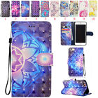 PU Leather Pattern Phone Case Cover Wallet Card Holder Flip For iPhone/Huawei