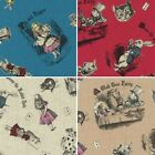 Alice In Wonderland Mad Tea party 100% Japanese Cotton Linen Fabric (Lecien)