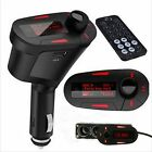 LCD Car Kit Bluetooth MP3 Player FM Transmitter Modulator MMC USB Remote