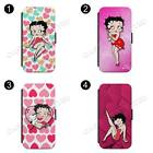 Betty Boop Pink Heart Cartoon Flip Wallet Phone Case Cover All iPhone £9.89 GBP on eBay