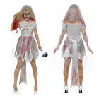 Smiffys Womens Deluxe Zombie Bride Ladies Undead Halloween Fancy Dress Costume