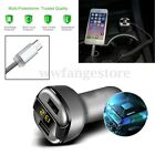 Universal 5V 3.4A Dual USB 2 Port Car Charger LED Display For Samsung IPhone 7 8
