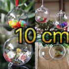 Fillable Plastic Clear Hanging Ball Candy Box Ornament Wedding Party Gift Deco