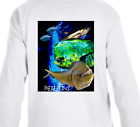 Real Fins Tuna Mahi Mahi Dolphin Beach Long Sleeve Fishing Fisherman T-Shirt