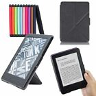 Textured Origami Stand Case Cover & Screen Protector For New Kindle 8 (2016)