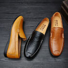 Plus Size US 6-11.5 Leather Driving Soft Shoes Mens Casual Walking Shoes New