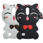 3D Cartoon Lucky Cat Soft Silicone Back Case For LG K10 2017