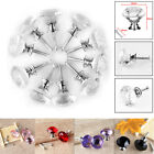 Clear Crystal Glass Door Knobs Cupboard Drawer Cabinet Kitchen Handles 10 Pcs UK