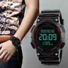 Mens 5ATM Led Digital Waterproof Countdown Wristwatch Shock Alarm Date Watch