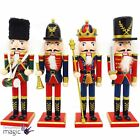 Traditional 30cm Large Wooden Standing Nutcracker Christmas Xmas Decoration