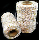 WHITE & GOLD SPARKLE CHRISTMAS BAKERS GIFT PRESENT WRAPPING STRING TWINE CORD