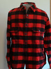 Men's Woolrich Jacket Oxbow Bend NWT Cotton Flannel Red/Black SIze M L XL 2XL