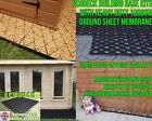 GREENHOUSE BASE GRID + HD GROUND SHEET PLASTIC SLAB LOG CABIN GREENHOUSE BASE em