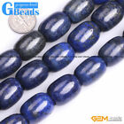 Natural AA Grade Blue Lapis Lazuli Barrel Beads For Jewelry Making Free Shipping