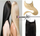 Width 25cm One Piece Human Hair Extensions Invisible Secret Wire Flip In 100g