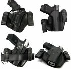 TAGUA Right Hand Black Leather Dual Snap-On IWB Concealment Holster CHOOSE GUN