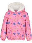 Girls Peppa Pig Hooded Coat Pink Peppa Pig Hooded Jacket  2-6 Years NEW