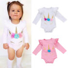 Baby Girls Romper 1st Birthday Outfits Toddler Unicorn Jumps