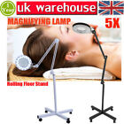 HD reading 5X Magnifying Lamp Magnifier Cold White Light Floor Desk Type Round W