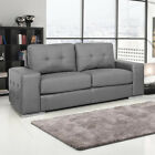 GENOA Modern Italian Inspired Leather Sofas 3 + 2 Seaters + Armchairs