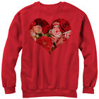 Lost Gods Floral Print Heart Mens Graphic Sweatshirt