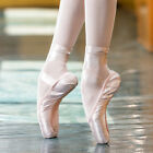 ballet pointe shoes satin upper with ribbon