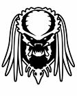 Predator sticker VINYL DECAL Alien Schwarzenegger Warrior Science Fiction