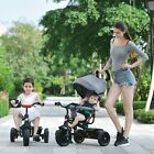 New Smart Canopy Pram Three Wheels 4 in 1 Kids Tricycle with Parent Handle