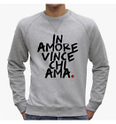 FELPA UOMO WORDS FUNNY LOVE HEART IN AMORE VINCE CHI AMA BE DIFFERENT BD0046A PA