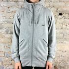 Addict Method Full Zip Up Hoodie with foldable Hood - Grey Marl - S, M, L