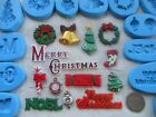 1x Sugarcraft/Fimo MOULD: CHRISTMAS Decorations Words Cracker Tree Garland Candy