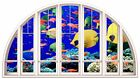 Huge 3D Arched Window Fantasy Under Sea View Wall Stickers Film Art Decal 486