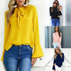 Womens Long Sleeve Casual Loose Blouse Top Lady OL Work T Shirts Tee Top Vertvie