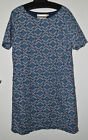 NEW EX SEASALT BLUE SPEAR THISTLE PRINT TUNIC TOP UK SIZE 8 10 12 16 18 20