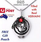 Vampire Diaries Elena's Vervain Antique 925 Sterling Silver Locket Necklace New