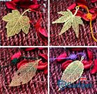 Gold Metal Leaf Bookmark & Tassel Page Place Marker