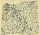 Poster Print Antique American Military Map 12th Army Group