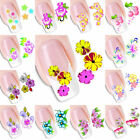 1X Women Nail Art Sticker Rose Flower Water Decal Manicure Decor DIY Accessory