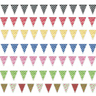 POLKA DOT Flag Shaped Banner 12ft Long Bunting Garland Party Decorations