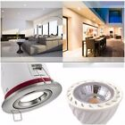 1 / 4 / 6 / 10 X BRUSHED CHROME IP20 Fire Rated Ceiling Down Light & 5W LED BULB