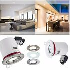1/ 4 / 6 / 10 X FIRE RATED Fixed GU10 IP20 Downlight 3 Colours Bayonet Ring