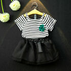 2PCS Kids Toddler Baby Girls T-Shirt Tops+Tutu Skirt Party Pageant Dress Outfits