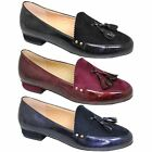 FLC048 Swerve Faux Leather Suede Press Stud Serrated Edge Tassel Loafer