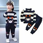2PCS Newborn Baby Boy Girl Clothes Hoodie Coat Shirt Tops+Pants Outfits Set
