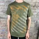Billabong Predator Short Sleeve Brand New T-Shirt in Khaki Size S