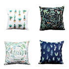 Tropical Plants Cotton Linen Pillow Case Sofa Seat Car Cushion Cover Home Decor