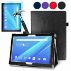 Luxury August Leather Smart Case Cover & Tempered Glass for Lenovo Tab 4 10