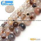 Natural Gray Stripe Agate Gemstone Round Beads For Jewelry Making Free Shipping